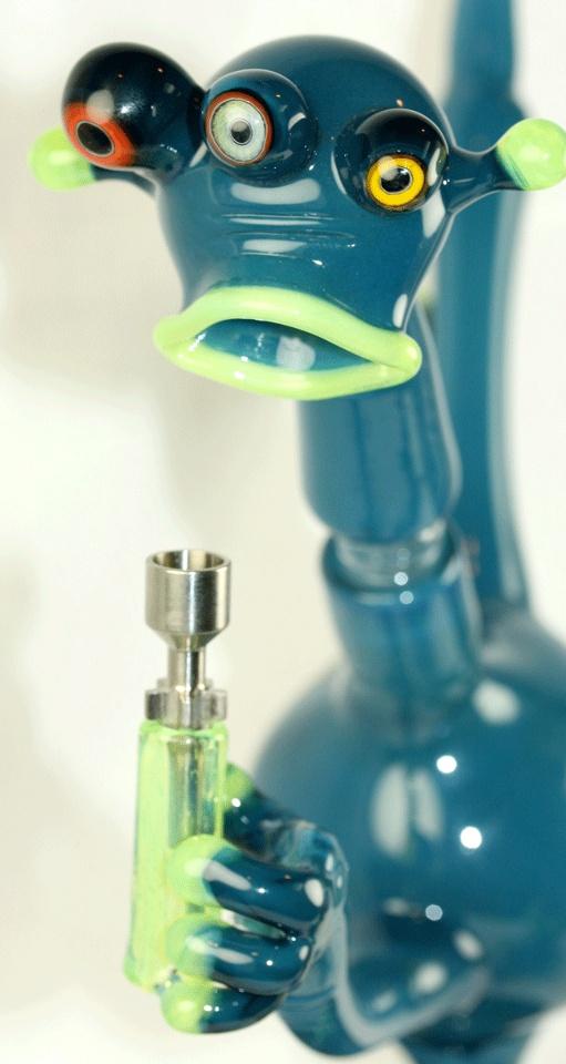 Joe Peters borosilicate glass pipe heady