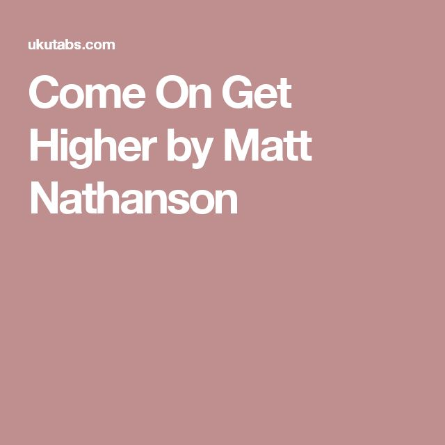 Come On Get Higher by Matt Nathanson