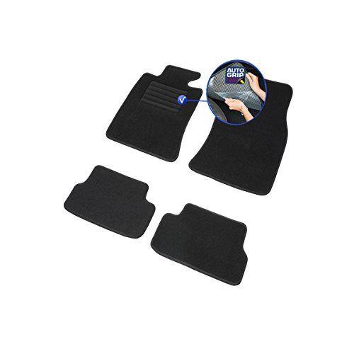 Tapis Auto – Sur Mesure – Tapis de sol pour Voiture – 4 Pièces – Antidérapant – Moquette noir 900g/m² – Finition Velours – Gamme Star –…