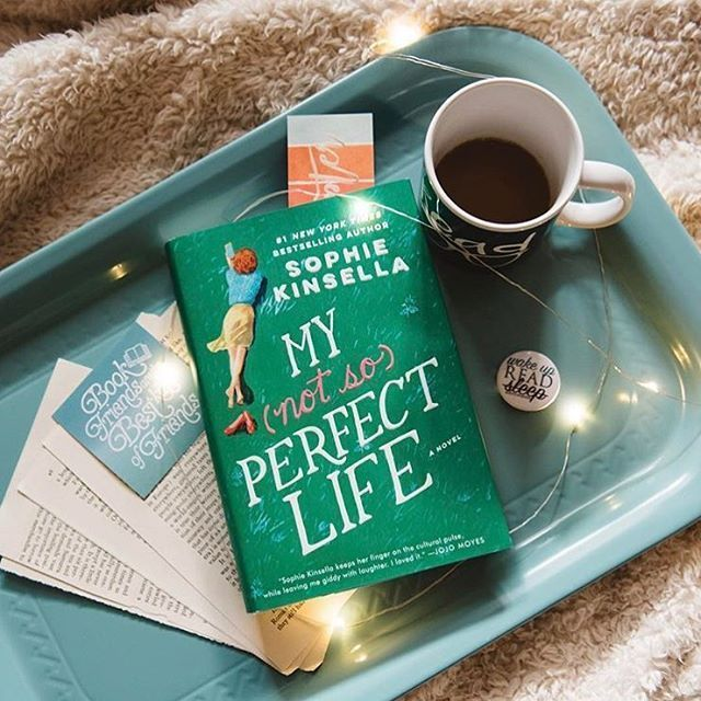 What are you reading this Saturday? We're curling up with @sophiekinsellawriter's #mynotsoperfectlife!  #regram @createexploreread #sophiekinsella #bookstagram #igreads #tbr