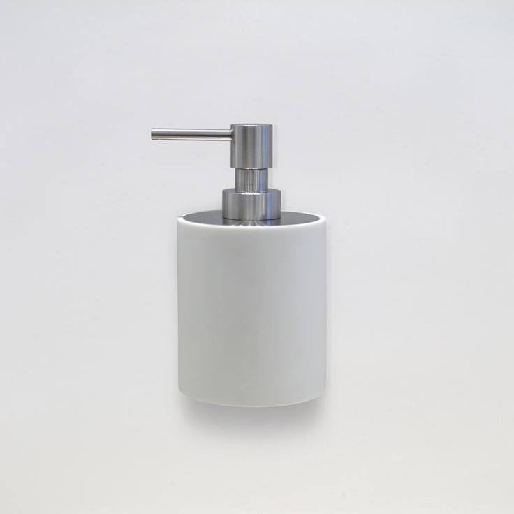 Bathware - Piet Boon by FORMANI - Soap dispenser for wall mounting stainless steel and corian