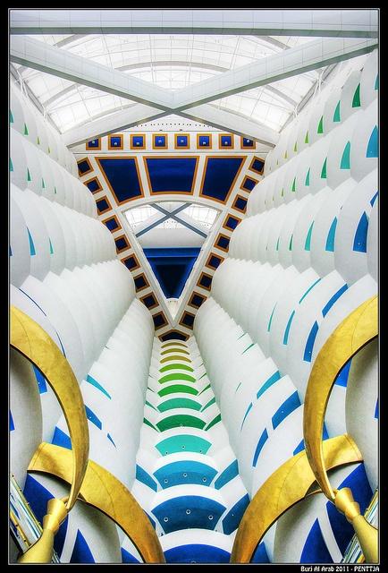 Colorful architecture Dubai