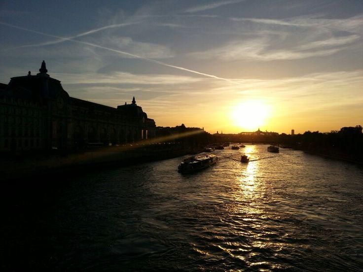 Couché de soleil Paris Orsay
