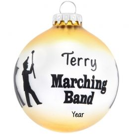 Personalized Marching Band Silhouettes Glass Ball Ornament