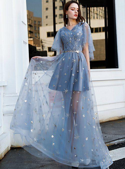 Moda luxuosa👗 in 2020 | Dresses, Blue evening dresses, Elegant dresses