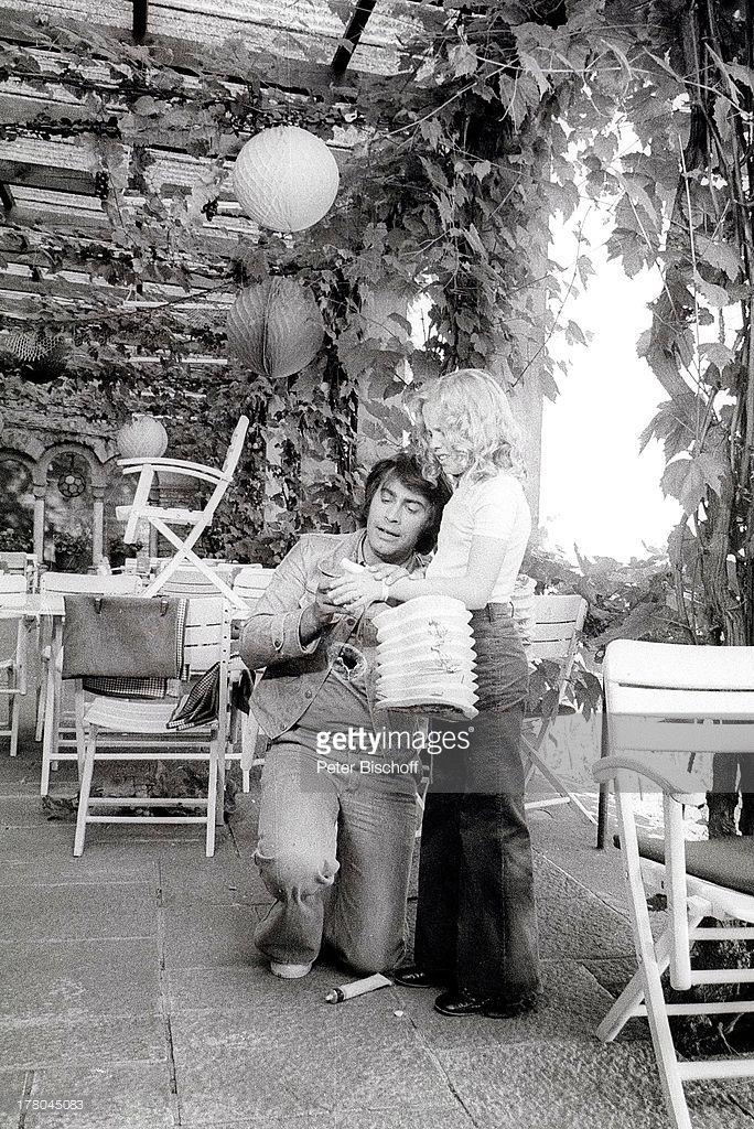 Anita Hegerland & Roy Black - Kinofilm 'Alter Kahn und junge Liebe', Burg Schwarzeneck (bei Rüdesheim), Rheinland-Pfalz, Deutschland