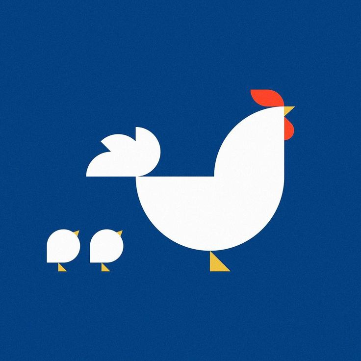 Chicken and chicks #chicken #chick #geometric #illust #illustration #graphic #meanimize #minimal #2017 #happynewyear