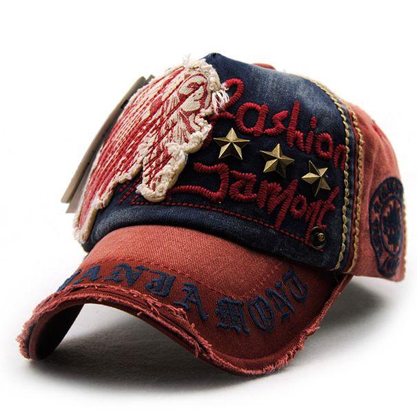 Unisex Cotton Washed Vintage Embroidery Baseball Cap Adjustable Golf Snapback Hat For Men Women