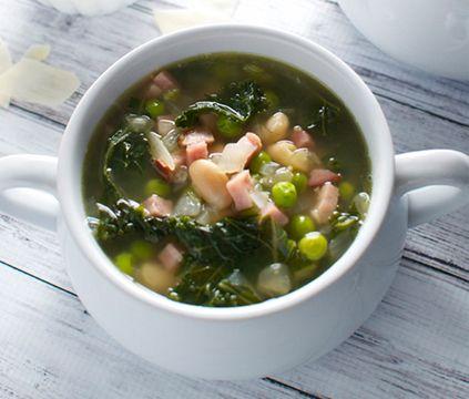 and ham soup soups simple html beans recipe forward simple kale bean ...