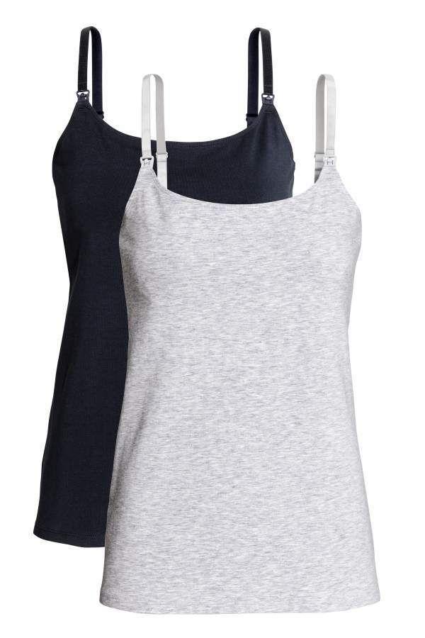 H&M MAMA Nursing Tank Tops, comfort, wardrobe staple, breastfeeding, #ad