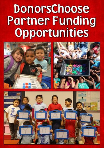 Partner Funding Opportunities from DonorsChoose - Find out about special offers in your state for matching funds and other opportunities to get help funding your projects. This page is updated regularly so check back frequently!