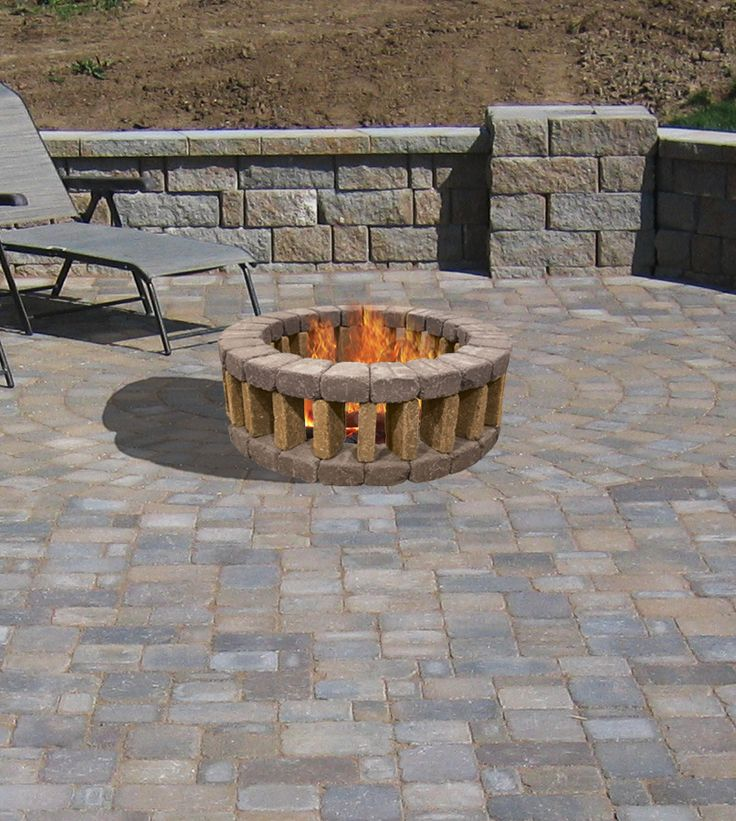 menards fire pit featuring a beautiful fa 231 ade made of belgian blocks the 29488