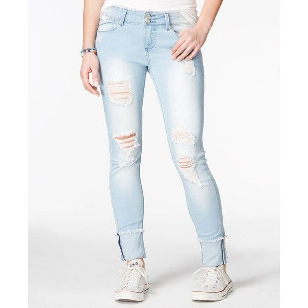 25  best ideas about White Ripped Skinny Jeans on Pinterest | Cold ...