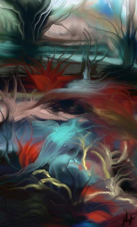 aquatique-5a.jpg (Digital Arts),  55x65 cm par Gabriela Simut paysage imaginaire
