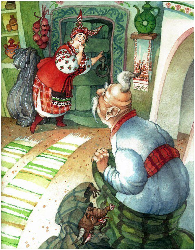 Иллюстратор Ольга Ионайтис. Ночь перед Рождеством.