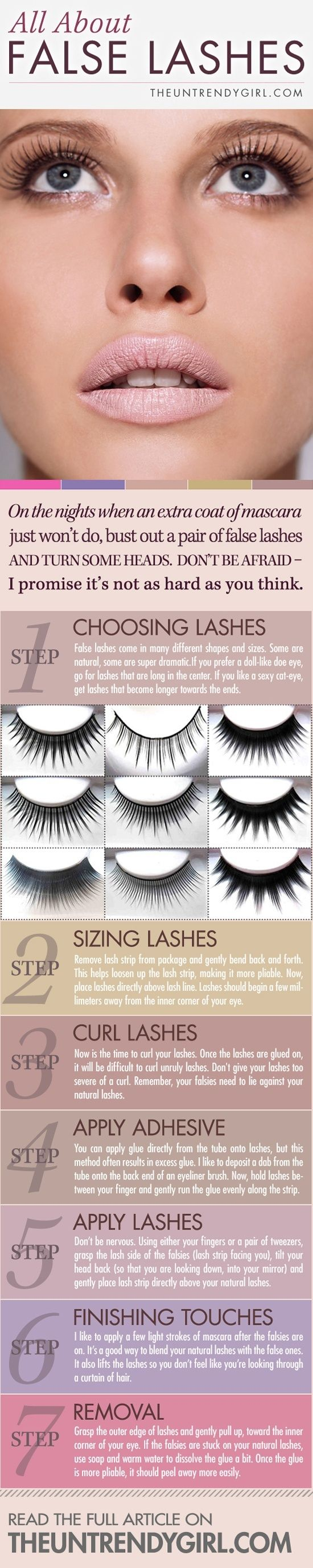 All about false lashes - I have never been bold enough to try and put fake eyelashes on maybe this will help me.