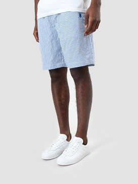 Daily Paper Striped Seersucker Short Blue Ss17B72