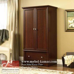 Lemari pakaian anak jati 2 pintu minimalis, lemari anak | mebel-kamar.com