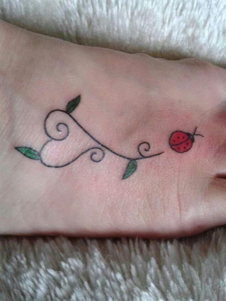 25 best heart shaped ladybug tattoo images on pinterest for Ladybug heart tattoos