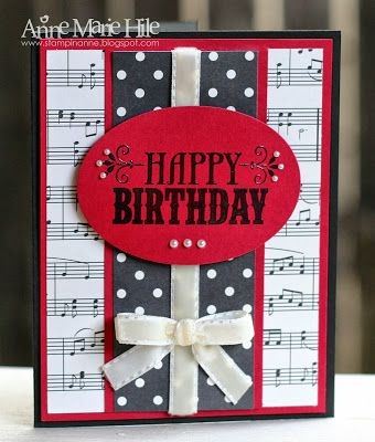 Stampin' Anne: Tic-Tac-Toe Birthday for Paper Players #165 - Music