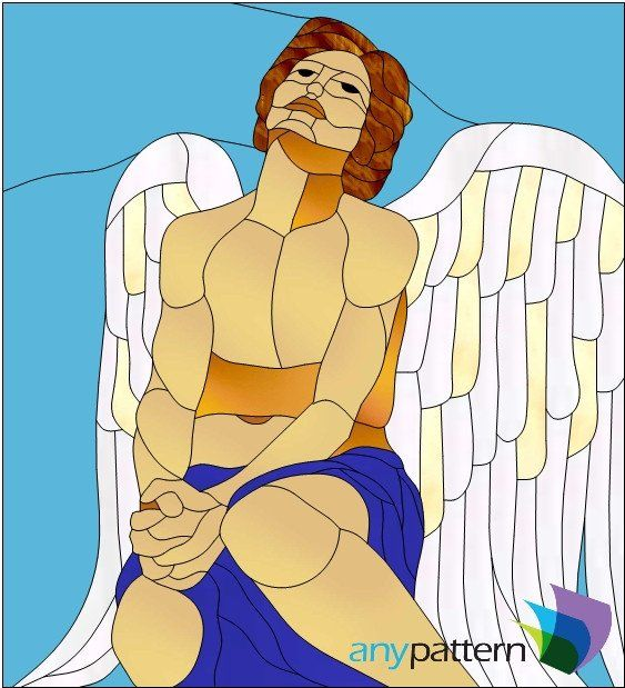 Male Angel Praying-20 x 22 – anypattern.com