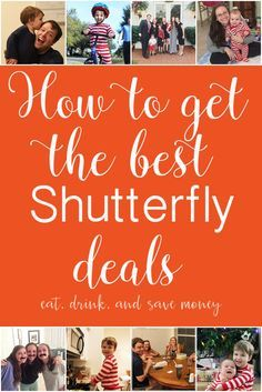 How to get the best Shutterfly deals. Follow these tips to get the very best deals on all the photo books from Shutterfly. http://www.eatdrinkandsavemoney.com