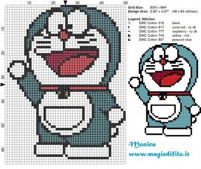 Schema punto croce Doraemon 50x66 5 colori.jpg