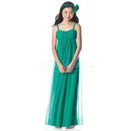 A-line Straps Floor-length Chiffon Junior Bridesmaid Dresses(JBD001)