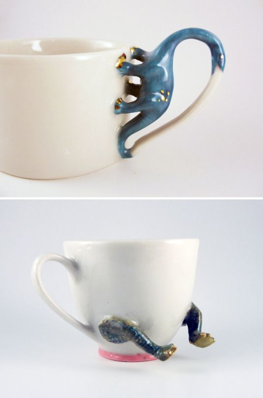 Handmade Porcelain Mugs and Cups by Julie Villeneuve on Etsy