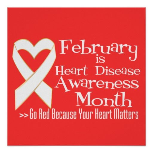 February is Heart Disease Awareness Month Poster Print For sale #heartdiseaseawareness #gored #heartdiseasemonth