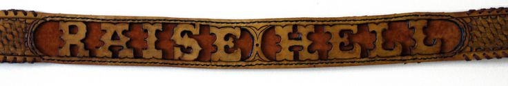 Each belt is custom hand carved, hand, stitched, hand tooled and dyed to make each belt unique. Made from thick 2 inch wide 8oz premium cow hyde and suede leather, and side laced with calf skin. Pick from the number options below for how many letters you'll need for your custom belt.Each belt takes roughly a week from start to finish. At times, the turnover rate may exceed a week due to volume. Be patient, Ill get em out to ya.Made with Love and lots of cuss words.up to 5 le...