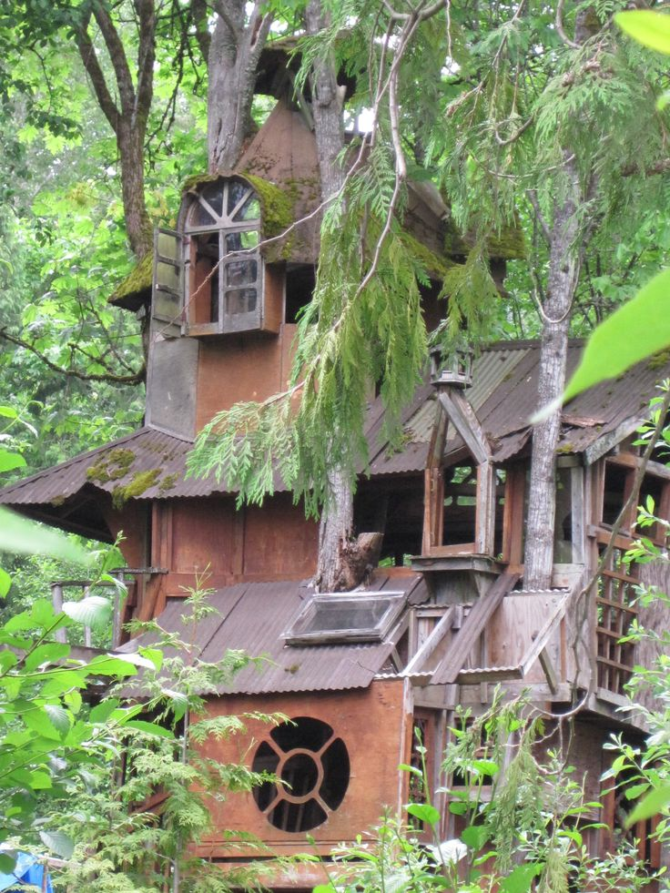 Dream houses fairy houses treehouse ideas cottage architecture kid trees treehouses natural
