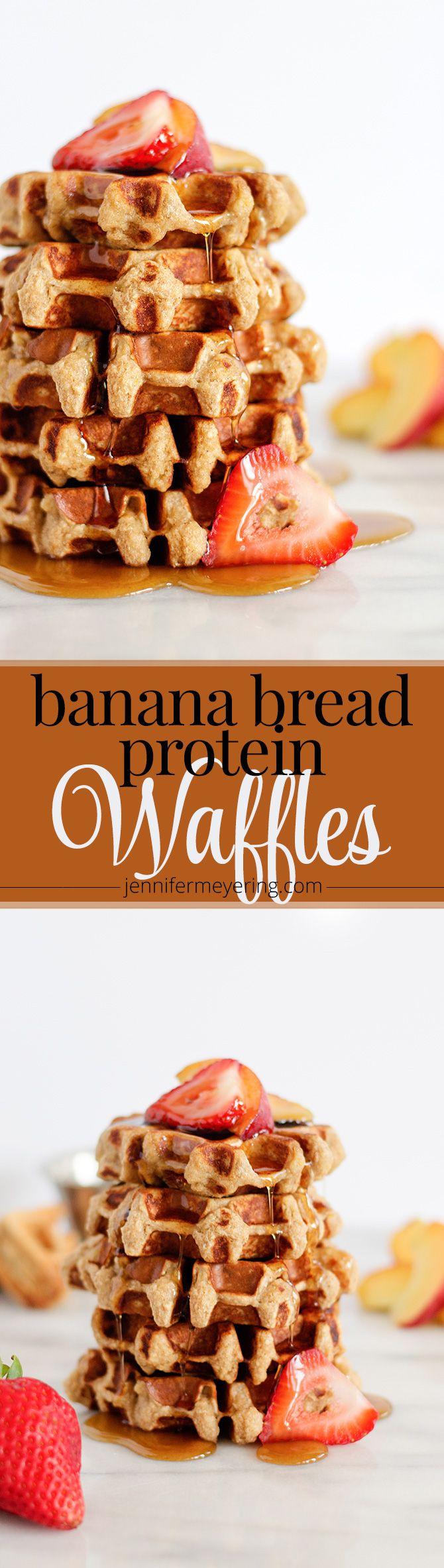 Banana Bread Protein Waffles | JenniferMeyering.com