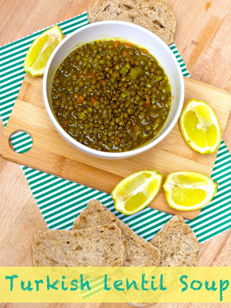 This Turkish Green Lentil Soup is so delicious and fresh so it's ...
