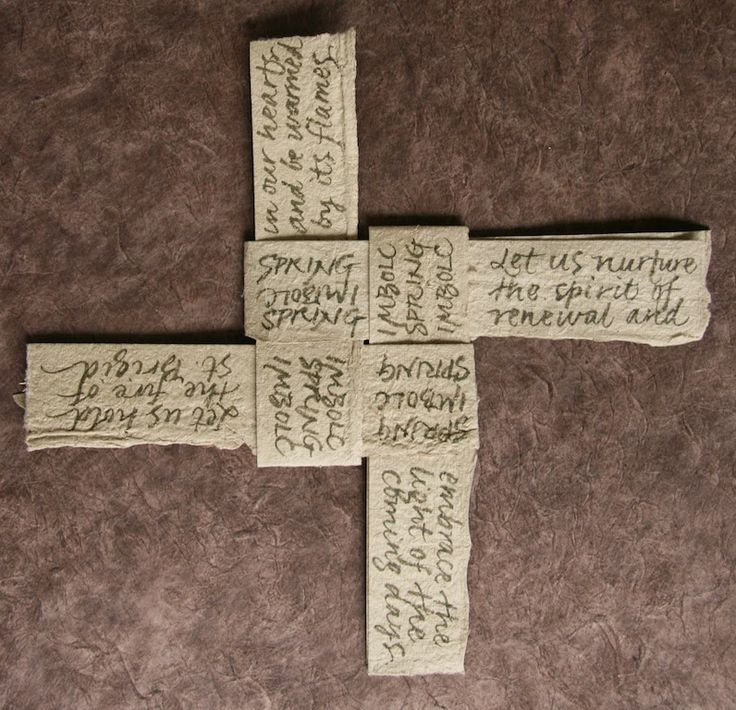 susangaylord.com: Make a Paper St. Brigid's Cross