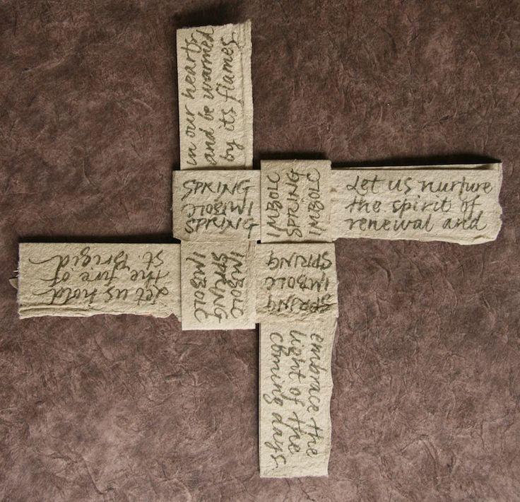 susangaylord.com: Make a Paper St. Brigid's Cross