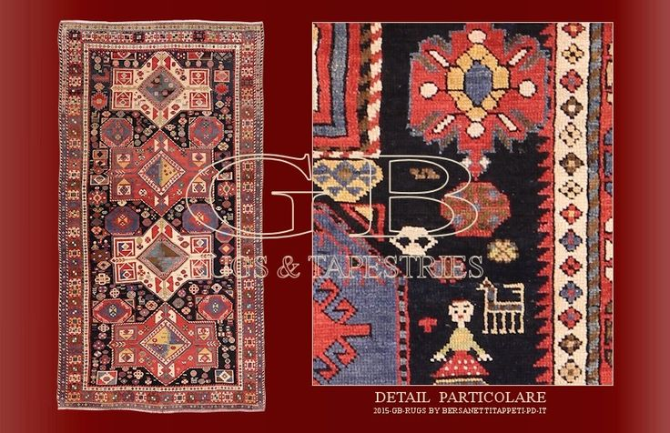 tappeto shirvan antico, caucaso