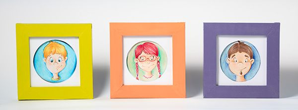 Framed portraits on Behance  #custom #handmade  #portrait #drawing #painting  #crafts #frame