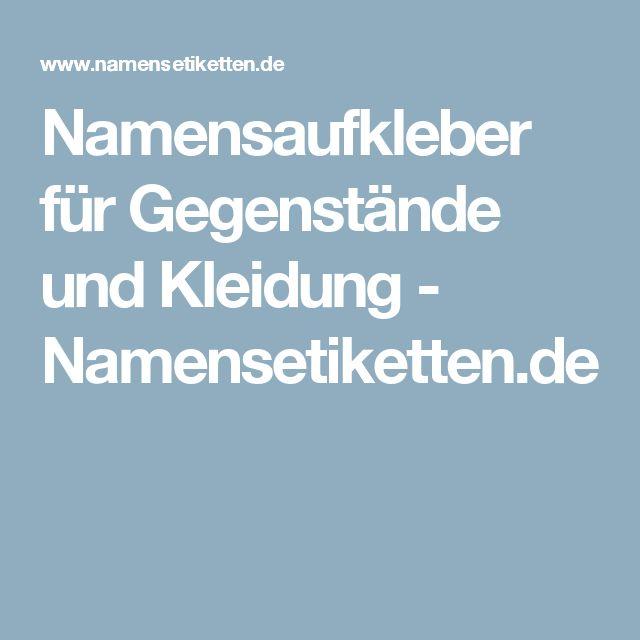 Namensaufkleber für Gegenstände und Kleidung - Namensetiketten.de