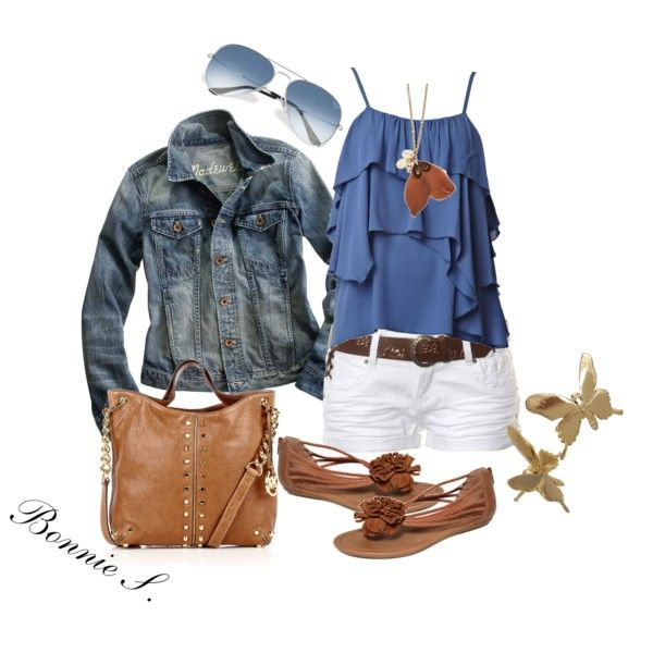 The jean jacket with the royal blue top is really cute:): Summer Fashion, Woman Fashion, Jeans Jackets, Style, Cute Outfits, Google Search, Denim Jackets, Cute Summer Outfits, Summer Clothing