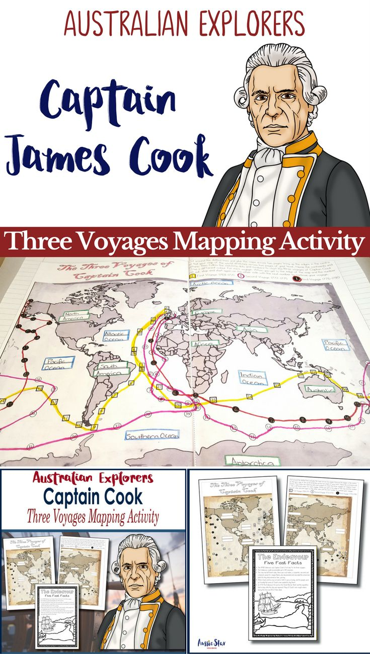 This great Australian Explorer activity for Year 5 HASS - Australian History is great fun, allowing students to assemble a double page map of the world and then 'chart' Cook's three voyages and record the continents and oceans on their travels. This is an ideal task to do in pairs or could be enlarged on to A3 paper to create a project or display item for your classroom. Everything you need is in this file.