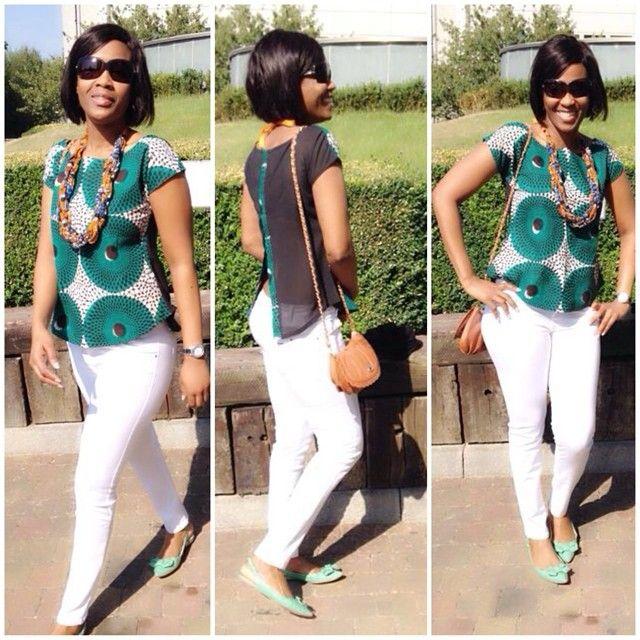 Auntie Nini looks fb in her b'venaj africhiffon top