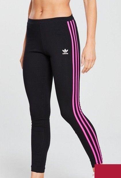 598918039ab30 BNWOT Adidas Women's Black Pink Stripe AA-42 Tights UK 12 #fashion ...