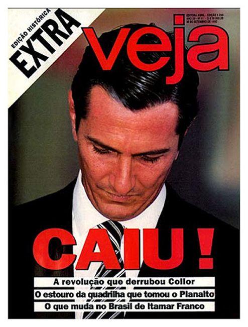 Veja - 1992 - Fernando Collor de Mello -  Impeachment -  http://mundoestranho.abril.com.br/materia/como-foi-o-impeachment-de-collor