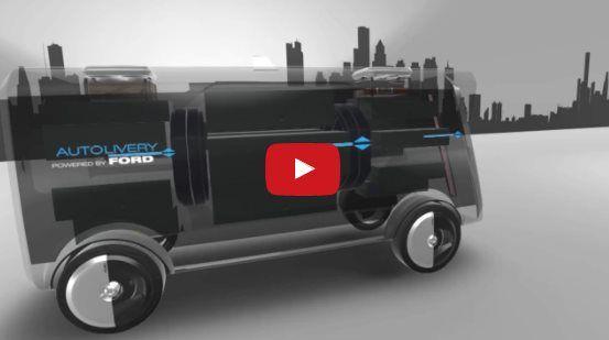 #Motor #Ford Autolivery, así imagina Ford a un coche del futuro repartiendo cosas a domicilio