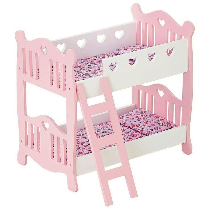 Lit Superpose En Bois Jouet : ! Avec leurs motifs en forme de cur, ces lits superpos?s en bois de