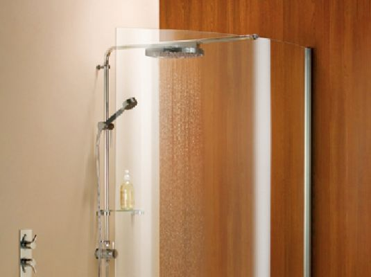 Series Acp Consists Of Curved Wet Room Panel Only With Toughened Safety Gl And Brace