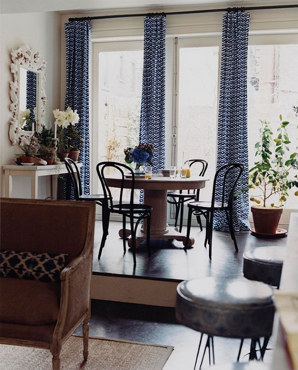 Sara Ruffin Costello - the first dining room I ever loved. I think it was the drapery.