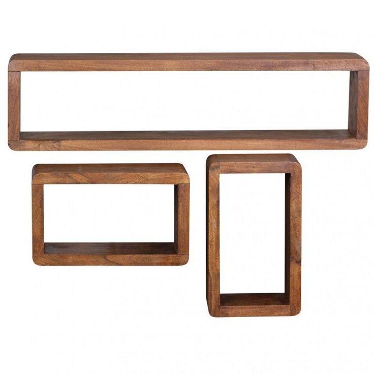 Stunning Wohnling Sheesham Massivholz er Set Wandregale Cubes Jetzt bestellen unter https moebel ladendirekt de wohnzimmer regale haengeregale uid udddeda b