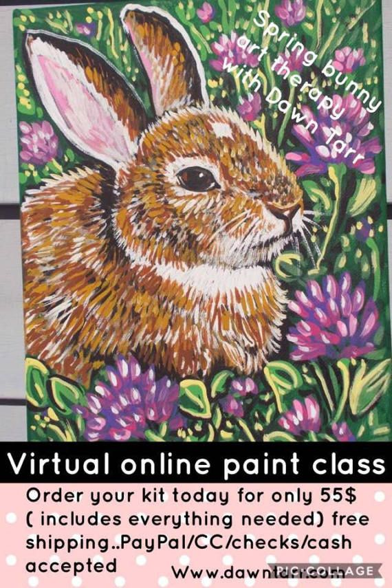 Art Therapy with Dawn Tarr online virtual class easter by dawntarr